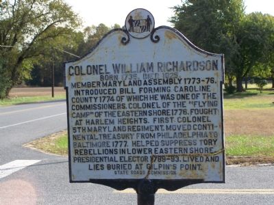 Colonel William Richardson Marker Photo, Click for full size