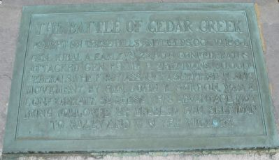 The Battle of Cedar Creek Marker image. Click for full size.