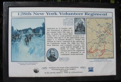 128th New York Volunteer Regiment Marker Photo, Click for full size