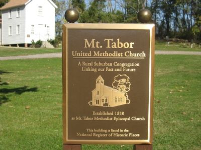 Mt. Tabor United Methodist Church Marker Photo, Click for full size