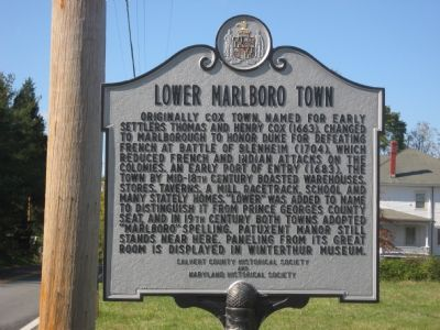 Lower Marlboro Town Marker image. Click for full size.