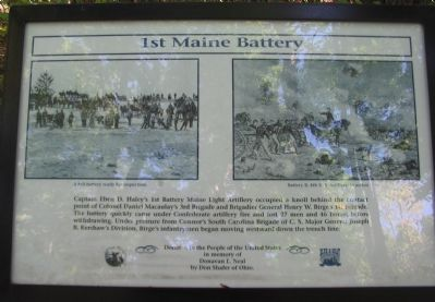1st Maine Battery Marker image. Click for full size.