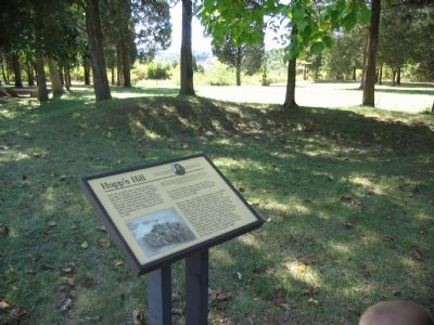 Hupp's Hill Marker off the Parking Lot image. Click for full size.