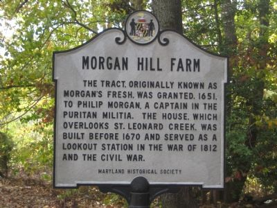 Morgan Hill Farm Marker image. Click for full size.