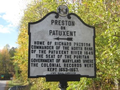 Preston on Patuxent Marker image. Click for full size.