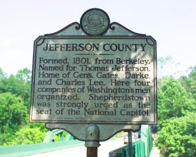 Jefferson County / Berkeley County Marker image. Click for full size.