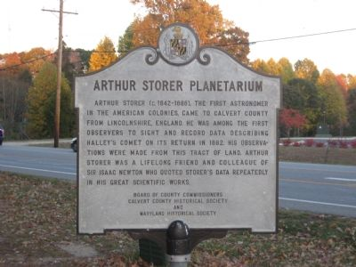 Arthur Storer Planetarium Marker Photo, Click for full size