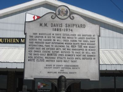 M. M. Davis Shipyard Marker Photo, Click for full size