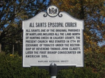 All Saints Episcopal Church Marker Photo, Click for full size