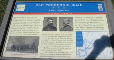 Old Frederick Road Marker image. Click for full size.