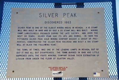 Silver Peak Marker image. Click for full size.