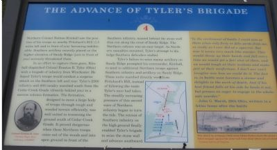 The Advance of Tyler's Brigade Marker Photo, Click for full size