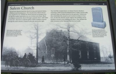 Salem Church Marker Photo, Click for full size