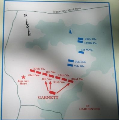 Detailed Battle Map Showing Garnett's Brigade Positions image. Click for full size.