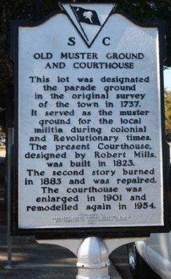 Old Muster Ground and Courthouse Marker image. Click for full size.