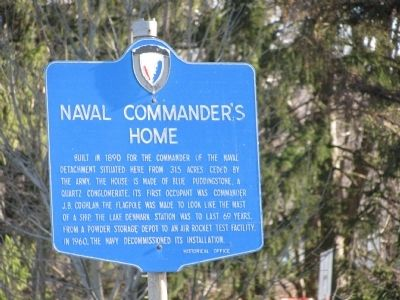 Naval Commander's Home Marker image. Click for full size.