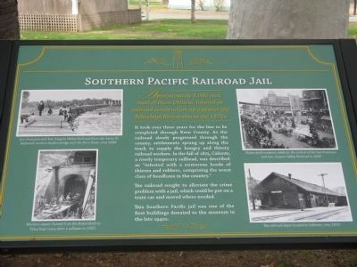 Southern Pacific Railroad Jail Marker image. Click for full size.