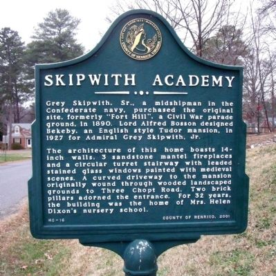Skipwith Academy Marker image. Click for full size.