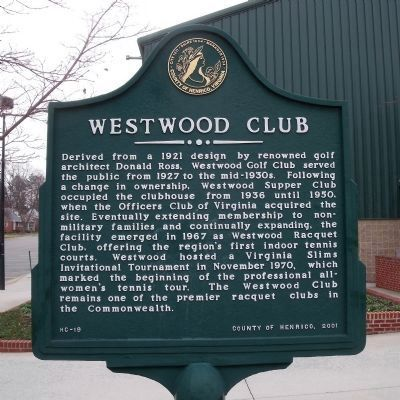 Westwood Club Marker image. Click for full size.