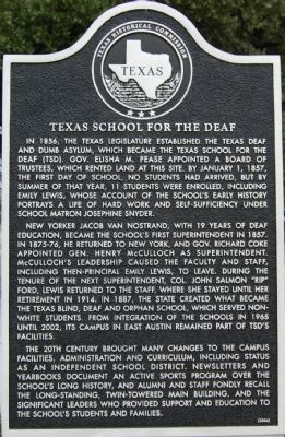 Texas School for the Deaf Marker image. Click for full size.