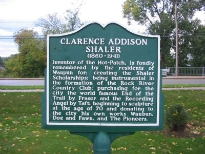 Clarence Addison Shaler Marker Photo, Click for full size