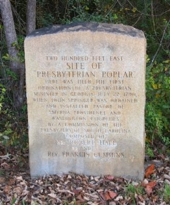 Site of Presbyterian Poplar Marker image. Click for full size.