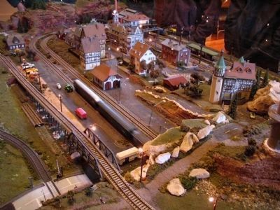 Cowan Railroad Museum model train setup image. Click for full size.