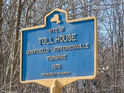 Site of Toll House Marker image. Click for full size.