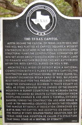 The Texas Capitol Marker image. Click for full size.