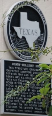 Denny-Holliday House Marker image. Click for full size.