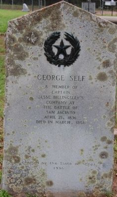 George Self Marker image. Click for full size.