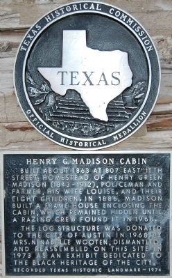 Henry G. Madison Cabin Marker image. Click for full size.