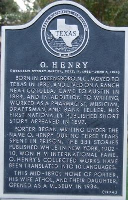 O. Henry Marker image. Click for full size.