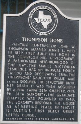 Thompson Home Marker image. Click for full size.