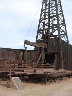 What Is A Lease >> Cable Tool Drilling Rig Historical Marker