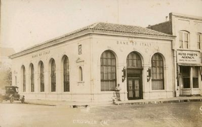 Bank of Italy, Oroville image. Click for full size.