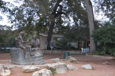 Philosophers' Rock at Barton Springs and markers image. Click for full size.