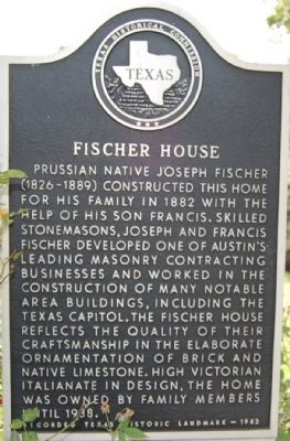 Fischer House Marker image. Click for full size.