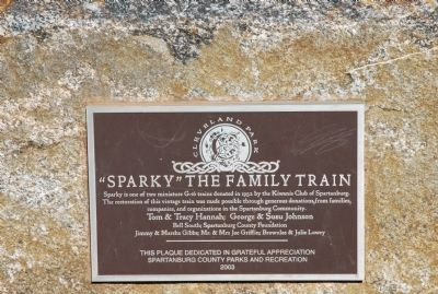"""Sparky"" the Family Train Marker image. Click for full size."