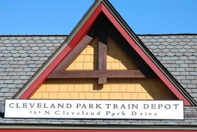 Cleveland Park Train Depot image. Click for full size.