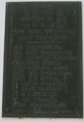 In Memory of Officers of the C.S.A. Marker image. Click for full size.
