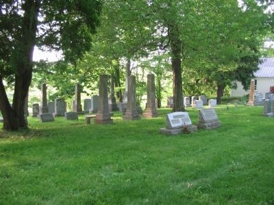 Portion of the Leeds Church Cemetery image. Click for full size.