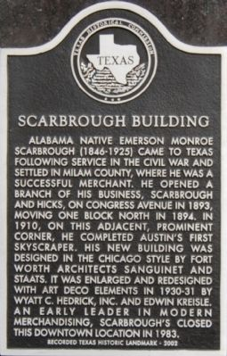 Scarbrough Building Marker image. Click for full size.