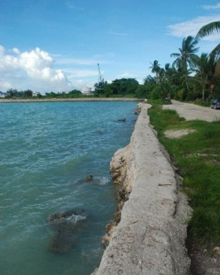 Seawall on Betio�s North Coast Photo, Click for full size