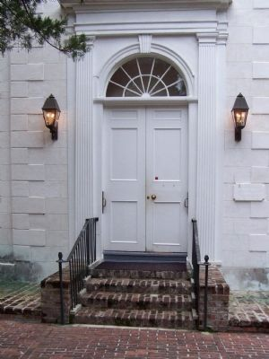 St. Helena's Episcopal Church Marker, west doorway Photo, Click for full size