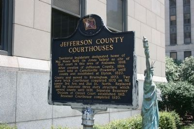 Jefferson County Courthouses Marker - Side A image. Click for full size.