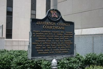Jefferson County Courthouse Marker - Side B image. Click for full size.