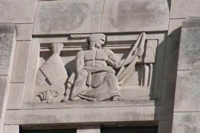 Jefferson County Courthouse Sculputed Relief 1 by Artist Leo Friedlander image. Click for full size.