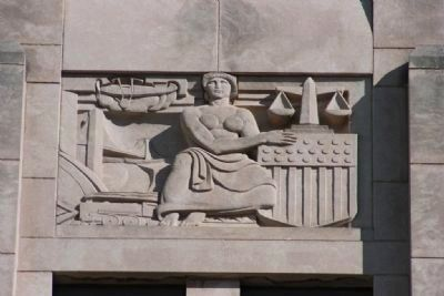 Jefferson County Courthouse Sculputed Relief 4 by Artist Leo Friedlander image. Click for full size.