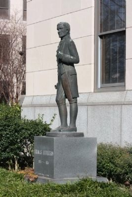 Bronze Statue of Thomas Jefferson by Birmingham Artist Georges Bridges image. Click for full size.